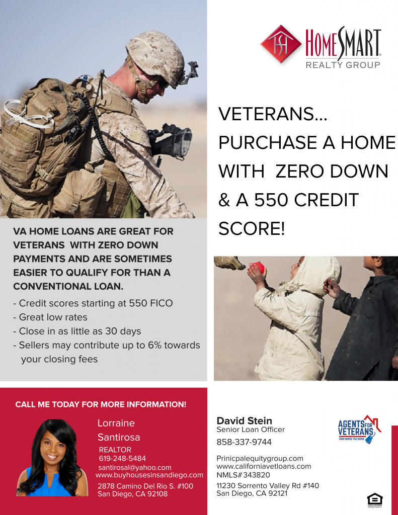 550 Credit Score Home Loan >> Buyers Agents For Veterans